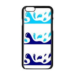 Water Apple Iphone 6/6s Black Enamel Case by AnjaniArt