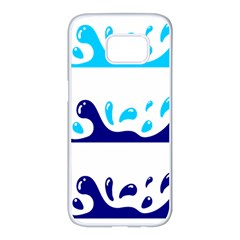Water Samsung Galaxy S7 Edge White Seamless Case