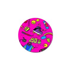 Smile Cute Face Purple Golf Ball Marker (10 Pack) by AnjaniArt