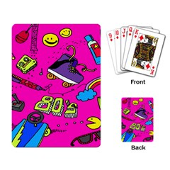 Smile Cute Face Purple Playing Card by AnjaniArt