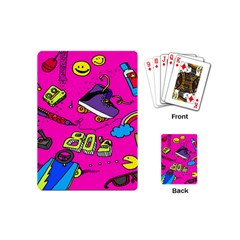 Smile Cute Face Purple Playing Cards (mini)  by AnjaniArt