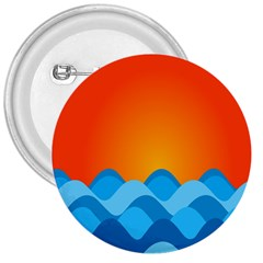 Water Orange 3  Buttons by AnjaniArt