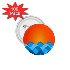 Water Orange 1 75  Buttons (100 Pack)  by AnjaniArt