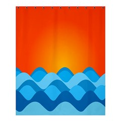 Water Orange Shower Curtain 60  X 72  (medium)