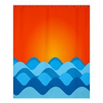 Water Orange Shower Curtain 60  x 72  (Medium)  54.25 x65.71 Curtain