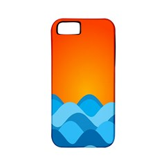 Water Orange Apple Iphone 5 Classic Hardshell Case (pc+silicone) by AnjaniArt