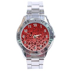 Red Water Stainless Steel Analogue Watch by AnjaniArt