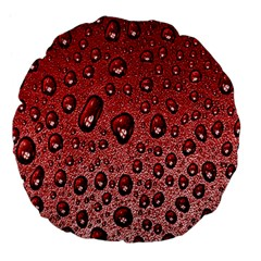 Red Water Large 18  Premium Flano Round Cushions by AnjaniArt