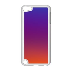 Purple Orange Blue Apple Ipod Touch 5 Case (white) by AnjaniArt