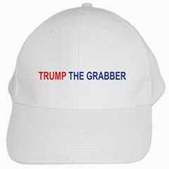 Trump The Grabber White Cap by extremelysilly