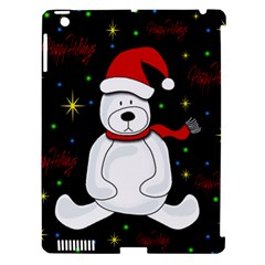 Polar Bear   Xmas Design Apple Ipad 3/4 Hardshell Case (compatible With Smart Cover) by Valentinaart