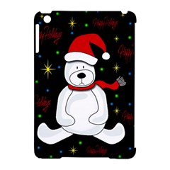 Polar Bear   Xmas Design Apple Ipad Mini Hardshell Case (compatible With Smart Cover) by Valentinaart
