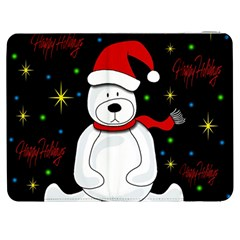 Polar Bear   Xmas Design Samsung Galaxy Tab 7  P1000 Flip Case by Valentinaart