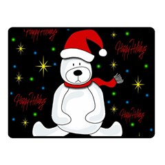 Polar Bear   Xmas Design Double Sided Fleece Blanket (small)  by Valentinaart