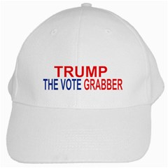 Trump The Vote Grabber White Cap by extremelysilly