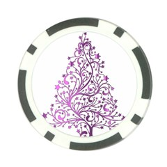 Elegant Starry Christmas Pink Metallic Look Poker Chip Card Guards by yoursparklingshop