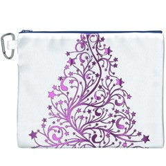 Elegant Starry Christmas Pink Metallic Look Canvas Cosmetic Bag (XXXL) by yoursparklingshop