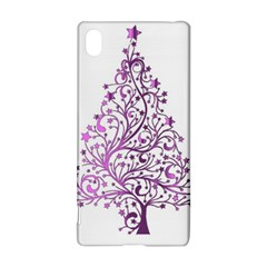 Elegant Starry Christmas Pink Metallic Look Sony Xperia Z3+ by yoursparklingshop