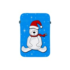 Polar Bear   Blue Apple Ipad Mini Protective Soft Cases by Valentinaart
