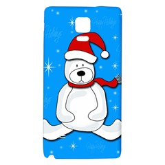 Polar Bear   Blue Galaxy Note 4 Back Case by Valentinaart