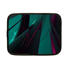 Abstract Green Purple Netbook Case (small)  by Onesevenart