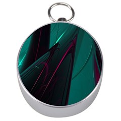 Abstract Green Purple Silver Compasses