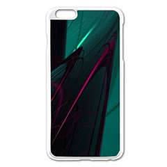 Abstract Green Purple Apple Iphone 6 Plus/6s Plus Enamel White Case by Onesevenart