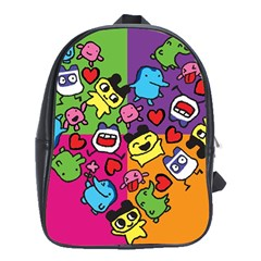 Cartoon Pattern School Bags (xl)  by Onesevenart