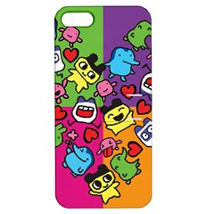 Cartoon Pattern Apple Iphone 5 Hardshell Case With Stand by Onesevenart