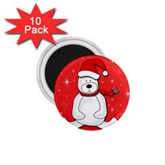 Polar Bear   Red 1 75  Magnets (10 Pack)  by Valentinaart