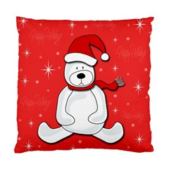 Polar Bear   Red Standard Cushion Case (one Side) by Valentinaart