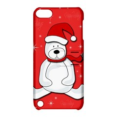 Polar Bear   Red Apple Ipod Touch 5 Hardshell Case With Stand by Valentinaart