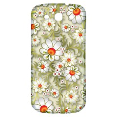 Beautiful White Flower Pattern Samsung Galaxy S3 S Iii Classic Hardshell Back Case by Onesevenart