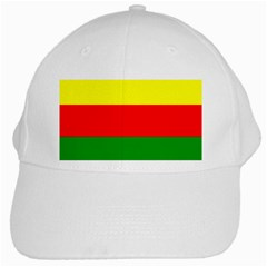 Kurdistan Kurd Kurds Kurdish Flag White Cap by Onesevenart