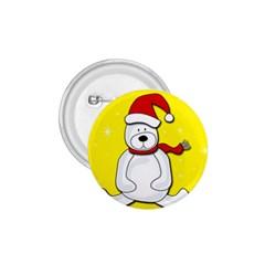 Polar Bear   Yellow 1 75  Buttons by Valentinaart
