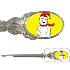 Polar Bear   Yellow Letter Openers by Valentinaart