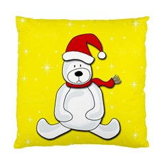 Polar Bear   Yellow Standard Cushion Case (two Sides) by Valentinaart
