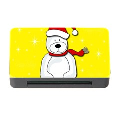 Polar Bear   Yellow Memory Card Reader With Cf by Valentinaart