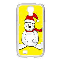 Polar Bear   Yellow Samsung Galaxy S4 I9500/ I9505 Case (white) by Valentinaart