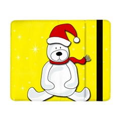 Polar Bear   Yellow Samsung Galaxy Tab Pro 8 4  Flip Case by Valentinaart