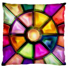 Glass Colorful Stained Glass Standard Flano Cushion Case (two Sides) by Onesevenart
