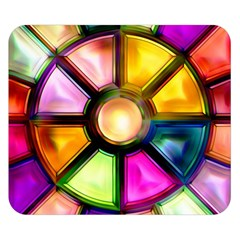 Glass Colorful Stained Glass Double Sided Flano Blanket (small)  by Onesevenart