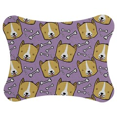 Corgi Pattern Jigsaw Puzzle Photo Stand (Bow) by Onesevenart