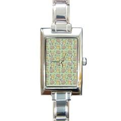 Hamster Pattern Rectangle Italian Charm Watch by Onesevenart