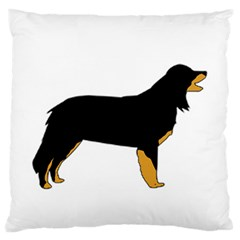 Hovawart Silo Color Large Flano Cushion Case (Two Sides) by TailWags