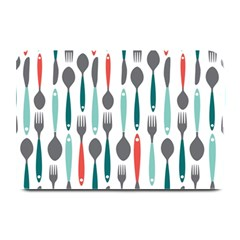 Spoon Fork Knife Pattern Plate Mats by Onesevenart