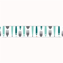 Spoon Fork Knife Pattern Small Bar Mats by Onesevenart