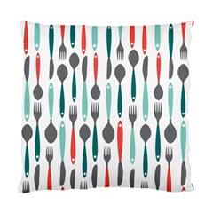 Spoon Fork Knife Pattern Standard Cushion Case (two Sides) by Onesevenart