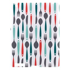 Spoon Fork Knife Pattern Apple Ipad 3/4 Hardshell Case by Onesevenart