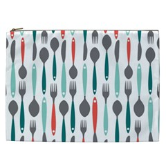 Spoon Fork Knife Pattern Cosmetic Bag (xxl)  by Onesevenart